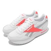 Reebok 休閒鞋 Royal Glide Rpldbl 白 灰 橘 皮革 小白鞋 女鞋 海外【ACS】 FZ3088