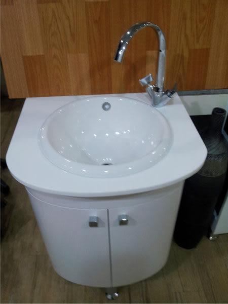 【麗室衛浴】澳洲原裝 Caroma 圓型上崁面盆+防水發泡板浴櫃W520*D450*H600mm 門市品出清