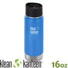 【KLEAN KANTEEN 美國 16盎司KK環形寬口保溫鋼瓶(54mm)《海空藍》】K16VWPCC/保溫瓶