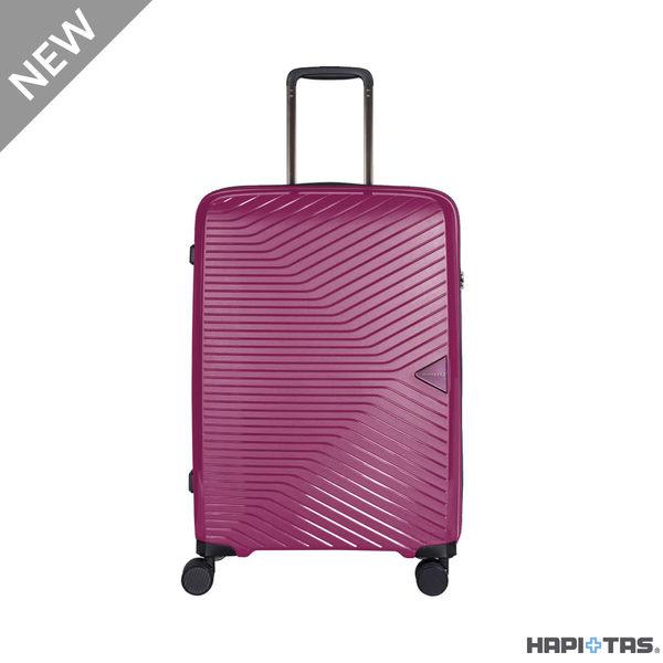 CROWN皇冠 HAPI+TAS 超輕量PP拉鍊箱 登機箱/旅行箱19.5吋-紅色 HAP2082
