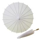 12吋空白紙傘 DIY彩繪紙傘 直徑約30cm/一支入(促50) 白紙傘 DIY白色綿紙傘 手工傘 -AA5854