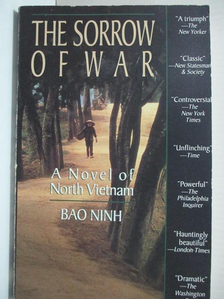 【書寶二手書T1/原文小說_GOB】The Sorrow of War: A Novel of North Vietnam_Ninh