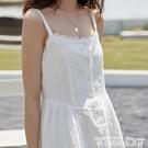 吊帶洋裝夏天顯瘦長裙少女風山本日系遮腹連...