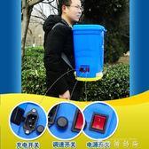 播種機電動施肥器播種機 充電撒化肥機 肥料機追肥器 魚塘投餌料機 igo  薔薇時尚