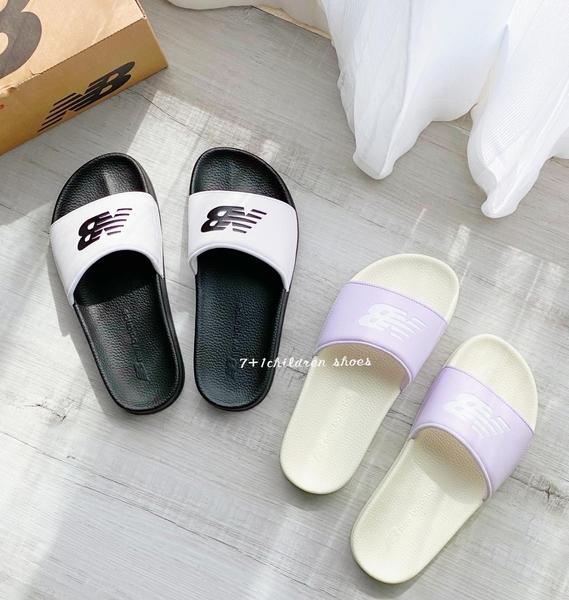 《7+1童鞋》New Balance 韓版舒適泡棉 緩震拖鞋 9598 白色