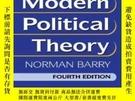 二手書博民逛書店An罕見Introduction To Modern Political Theory, 4th Edition奇