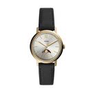 FOSSIL美式經典月相皮帶腕錶ES46...