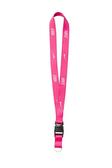 Nike Lanyard [NIA17607NS] 多功能 識別證帶 手機帶 耐用 舒適 可拆 粉紅 白