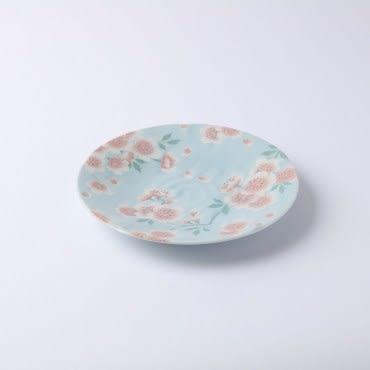 日本滿開櫻皿-藍 22cm