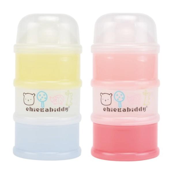奇哥 森林家族三層奶粉盒(藍/粉)