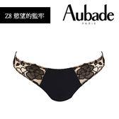 Aubade-慾望的堅牢L刺繡丁褲(黑肤)Z8