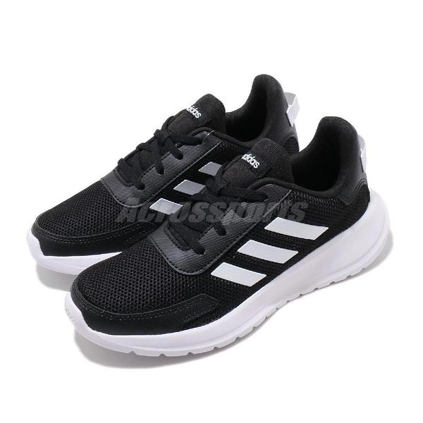 adidas 慢跑鞋 Tensaur Run K 黑 白 女鞋 童鞋 中童鞋 基本款 運動鞋 【ACS】 EG4128
