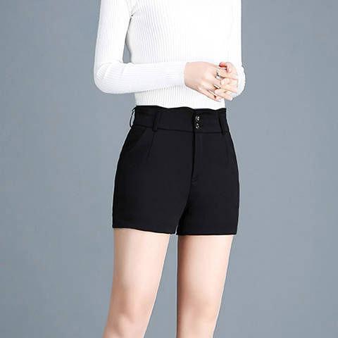 西裝短褲 大碼高腰黑色夏2020新款韓版顯瘦百搭休閒褲