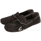 BOTTEGA VENETA 深咖啡色麂皮編織便鞋(男款) 1510654-C7