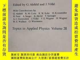 二手書博民逛書店HYDROGEN罕見IN METALS 1 金屬中的氫1-基本性質Y153827 G.ALEFELD SPRI