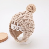 嬰兒帽子冬季手工嬰幼兒女寶寶毛線帽3個月-2歲1秋冬男童護耳帽潮