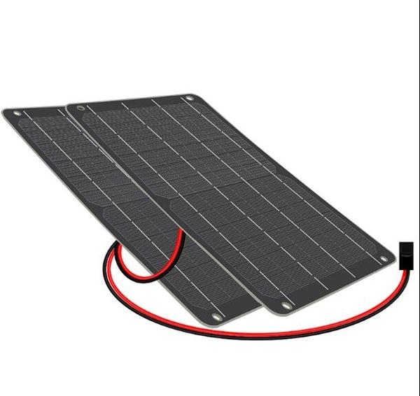 太陽能電池板3W6充3.7V鋰電池加5V穩壓器手機充電寶光伏發電繫統 南風小鋪