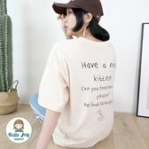 【正韓直送】放空貓咪手寫英文短袖上衣 4色 滿滿英文字 手繪貓咪 韓國T恤 哈囉喬伊 G188