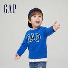 Gap男幼童 Logo亮色圓領休閒上衣 966837-藍色