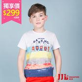 網路獨家-JJLKIDS 男童 時尚漸層舒適純棉短袖T恤上衣(白色) 售價:359