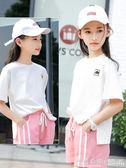 女童時尚短袖中大童洋氣運動T恤純棉白色夏裝寬鬆韓版潮 ◣怦然心動◥