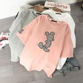 卡通老鼠貼布刺繡T桖上衣 獨具衣格 J2495