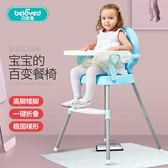 寶寶餐椅嬰兒吃飯凳餐桌椅座椅兒童便攜可折疊多功能小孩學坐椅子wy