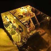 diy小屋夏之海手工制作房子模型拼裝女孩玩具創意生日禮物男女生XSX