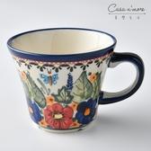 波蘭陶 夢蝶游春系列 寬口茶杯 馬克杯 咖啡杯 水杯 240 ml 波蘭手工製【美學生活】