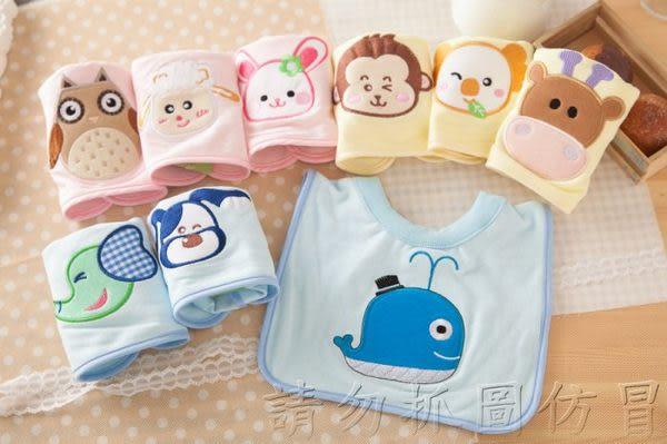 ☆╮寶貝丹童裝╭☆Nikokids 有機棉 可愛 動物 圖案 圍兜 口水巾 春夏新款 台灣製 多款花色 新款