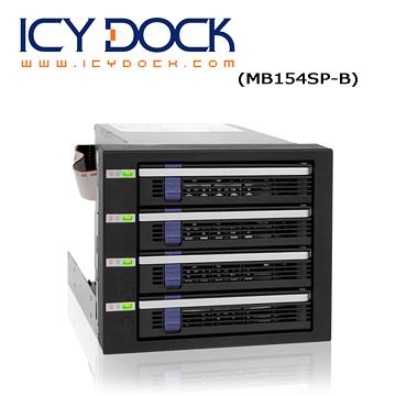 "ICY DOCK 4轉3 內接3.5"" SATA 硬碟模組(MB154SP-B)"