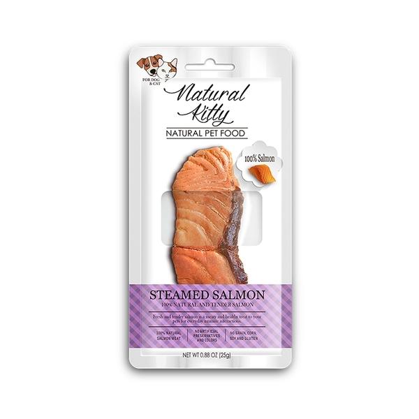 寵物家族-Natural Kitty 自然小貓100%鮮零食-天然鮭魚25g