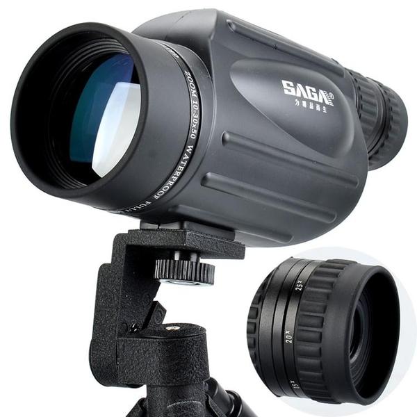 saga薩伽單筒望遠鏡10~30X50連續變倍高清夜視手機拍照望遠鏡高倍NMS小明同學