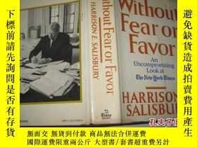 二手書博民逛書店英文原版罕見WITHOUT FEAR OR FAVOR(16 開