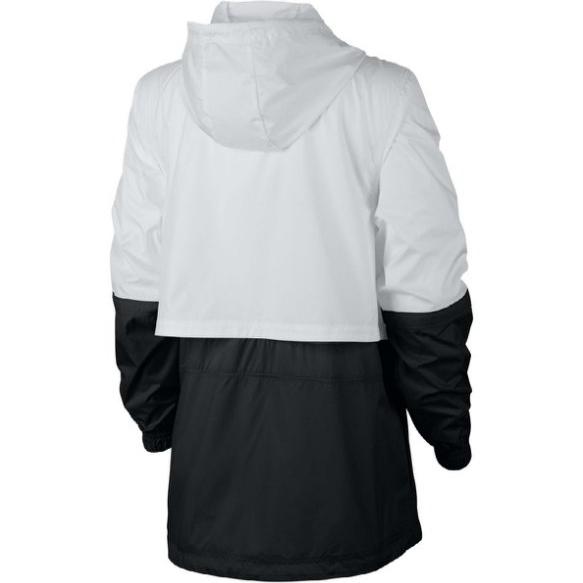 【現貨】NIKE NSW JACKT 女裝 外套 風衣 夾克 透氣 防曬 休閒 慢跑 訓練 白黑【運動世界】AJ2983-102