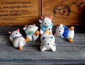 年末鉅惠 精美陶瓷可愛貓咪筷子架 小貓咪筷架 精品筷托陶瓷擺件