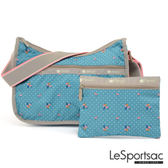 LeSportsac - Standard側背水餃包/流浪包-附化妝包 (火烈鳥/綠) 7520P F182