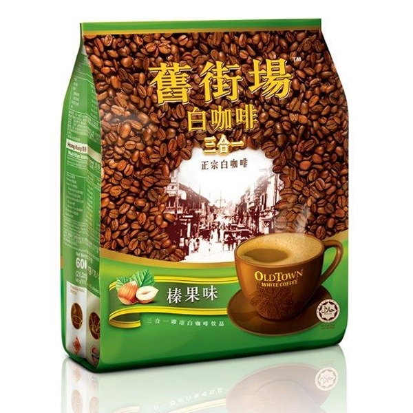 舊街場3合1榛果白咖啡 (40gx15條 /包)