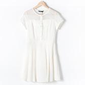 【MASTINA】縷空修身洋裝-白 網路獨家洋裝
