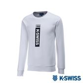 K-Swiss Crew Neck Sweatshirt 刷毛圓領上衣-男-白