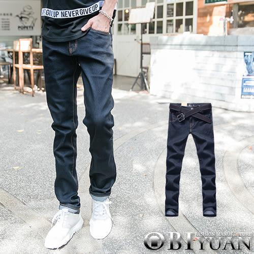 專櫃質感牛仔褲【P1920】OBI YUAN 韓版原色無印高磅數單寧彈性牛仔休閒褲