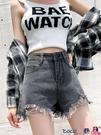 熱賣牛仔短褲 2021年夏季新款牛仔短褲女高腰顯瘦大碼寬鬆百搭闊腿a字熱褲潮 coco