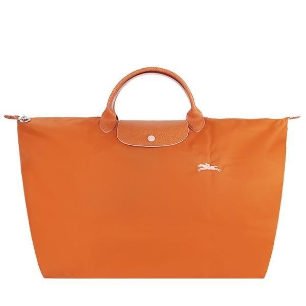 【南紡購物中心】LONGCHAMP LE PLIAGE COLLECTION系列刺繡短把手提旅行袋(大/紅棕)