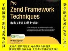 二手書博民逛書店Pro罕見Zend Framework TechniquesY364682 Forrest Lyman Apr