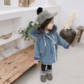 牛仔外套女童加絨牛仔外套秋冬新款韓版兒童寶寶冬季洋氣公主加厚大衣走心小賣場