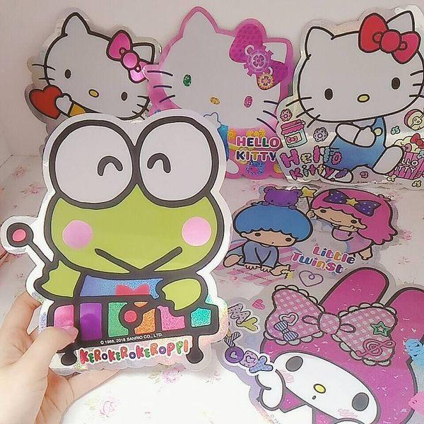 日本kitty大眼蛙美樂蒂雙子星貼紙裝飾貼952651通販屋