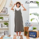 【Tiara Tiara】百貨同步新品aw 兩件式印花洋裝(白上衣/灰上衣)