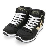 PLAYBOY 街頭玩美 銀蔥高筒內增高休閒鞋-黑