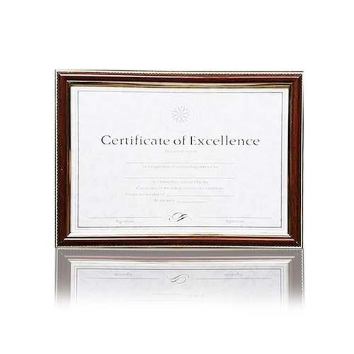 EFFORT 巨匠 A4 鐵刀木紋壁掛證書框/相框/獎狀框 直橫2用UA02137-1