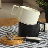 馬克杯 北歐陶瓷杯子咖啡茶杯簡約馬克杯帶蓋勺情侶家用辦公室水杯創意杯〖夢露時尚女裝〗